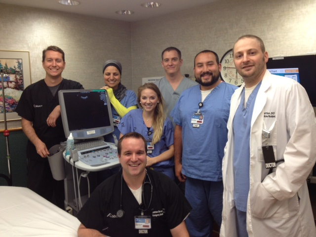 Residents with Ultrasound